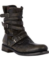 John Varvatos | Gray Engineer Triple-buckle Boots for Men | Lyst
