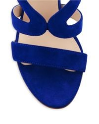 Aquatalia | Blue Surprise Wedge Sandals | Lyst