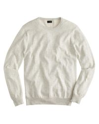J.Crew - Natural Cotton-cashmere Crewneck Sweater for Men - Lyst