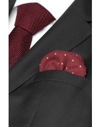 BOSS - Red 'pocket Square 33 X 33' | Wool Printed Pocket Square for Men - Lyst