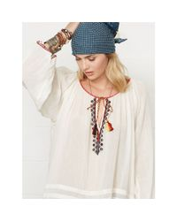 Denim & Supply Ralph Lauren - Natural Embroidered Beach Top - Lyst