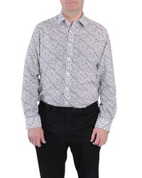 Double Two | Gray Floral Classic Fit Classic Collar Formal Shirt for Men | Lyst