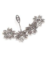 Yvonne Léon   White Diamond Flower Lobe Earring   Lyst