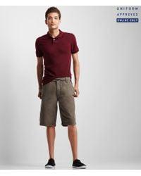 Aéropostale | Gray Uniform Solid Flat-front Shorts for Men | Lyst