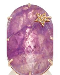 Andrea Fohrman | Purple Amethyst And Rutilated Quartz Star Oval Ring | Lyst