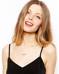 ASOS - Metallic Promise Necklace - Lyst