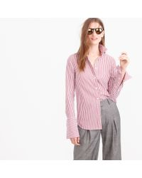 J.Crew | Purple Thomas Mason Striped Boy Shirt | Lyst