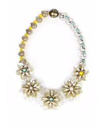 Tataborello - Girasole Yellow Blue Crystal Necklace - Lyst