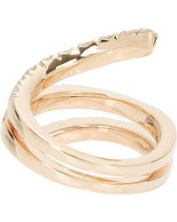 Roberto Marroni - Metallic Diamond & Red Gold Snake Ring - Lyst