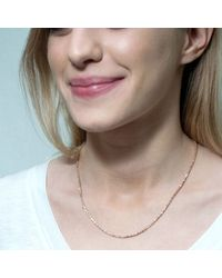 Tada & Toy - Metallic Spiny Lizard Chain Necklace Gold - Lyst
