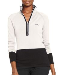 Lauren by Ralph Lauren | Natural Colorblocked Cotton Pullover | Lyst