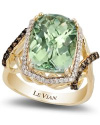 Le Vian | Green Amethyst (5-5/8 Ct. T.w.) And Diamond (3/8 Ct. T.w.) Ring In 14k Gold | Lyst