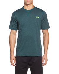 The North Face - Blue Reactor Training T-Shirt for Men - Lyst