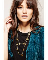 Forever 21 | Metallic Soko Looping Coin Necklace | Lyst