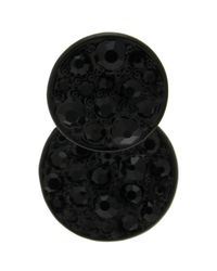Oasis | Black Pave Disc Front To Back Earring | Lyst