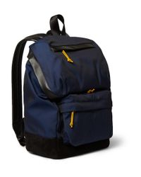 Alexander Wang | Blue Wallie Leather-Trimmed Canvas Backpack for Men | Lyst