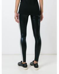 Norma Kamali - Black Cropped Cotton-Blend Leggings - Lyst