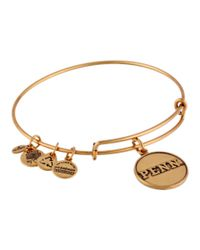 ALEX AND ANI | Metallic University Of Pennsylvania Logo Charm Bangle | Lyst