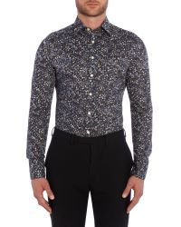 Simon Carter | Blue Flower Fruit Liberty Shirt for Men | Lyst
