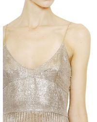 Rochas - Metallic Silk Polyester Lamè Dress - Lyst