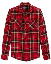 American Rag | Red Elias Flannel Shirt for Men | Lyst