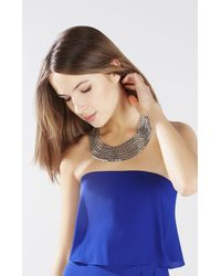 BCBGMAXAZRIA - Metallic Chain Bib Necklace - Lyst
