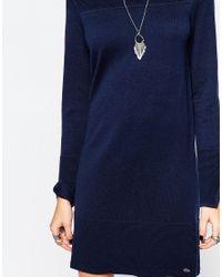 Esprit - Blue Knitted Dress - Lyst