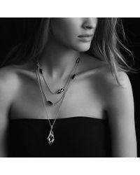 David Yurman - Cable Wrap Pendant with Black Onyx and Diamonds - Lyst