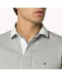 Tommy Hilfiger | Gray Cotton Rugby Shirt for Men | Lyst