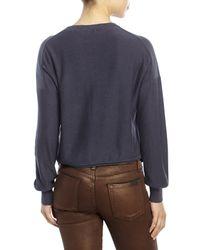 Skin - Blue Irene Asymmetrical Pullover - Lyst