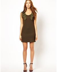 Traffic People | Green Silk Streamer Dress | Lyst