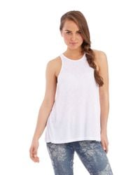 Free People | White Long Beach Oversized Tank | Lyst
