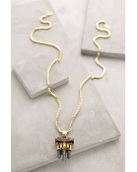 Elizabeth Cole | Metallic Periapt Pendant Necklace | Lyst