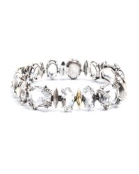 Alexis Bittar - Metallic Silver Gaze Marquis Tennis Bracelet With 18k Gold Marquis You Might Also Like - Lyst