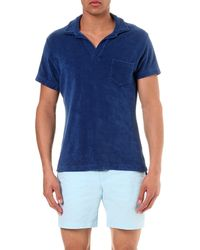 Orlebar Brown | Blue Terry Cotton Polo Shirt for Men | Lyst