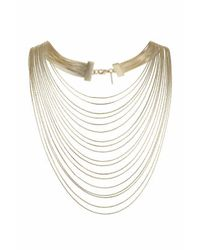 TOPSHOP | Metallic Multirow Snake Chain Necklace | Lyst