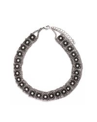 Forever 21   Black Sleek Colorblocked Chain Necklace   Lyst