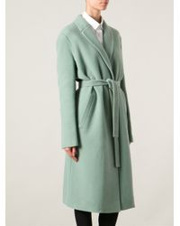 Rochas - Green Belted Overcoat - Lyst