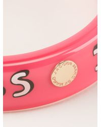 Marc By Marc Jacobs | Pink 'i Heart Marc' Bangle | Lyst