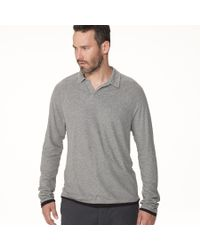 James Perse Gray Doubled Polo for men