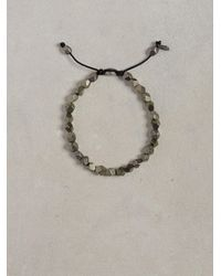 John Varvatos | Black Pyrite Special Cut Bracelet for Men | Lyst