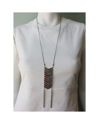 Native Rainbow | Metallic Silver Chevron Necklace | Lyst