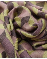 Paul Smith - Yellow Harlequin Silk-Blend Scarf - Lyst