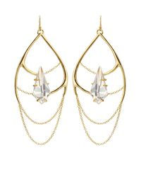 Alexis Bittar - Metallic Kinetic Draping Gold-plated Chain Earrings - Lyst