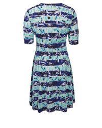 KENZO - Blue Navy Torn Paper Knit Dress - Lyst