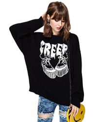 Nasty Gal | Black United Couture Creep Creep Sweater | Lyst