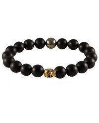 Electric Picks | Black Punk Men's Skull Bracelet for Men | Lyst