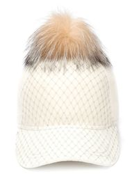 House of Lafayette - Natural 'b' Cap - Lyst