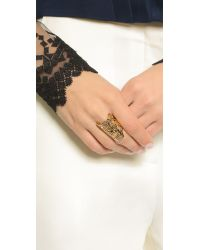 KENZO | Metallic Oversized Tiger Ring - Gold | Lyst