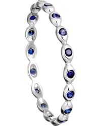 Astley Clarke | 14ct White Gold Ring with Sapphire Drops | Lyst
